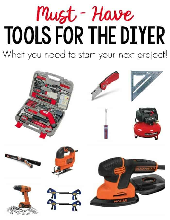 Must Have Tools for the DIYer. These essentials are all you need to get started on your next DIY project!