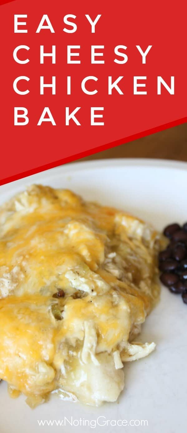 Stop rolling those Enchiladas! With this Cheesy Chicken Enchilada bake - you'll save time and energy creating a family favorite dish. Plus this is great for last minute meals! This is a recipe you definitely want to try!