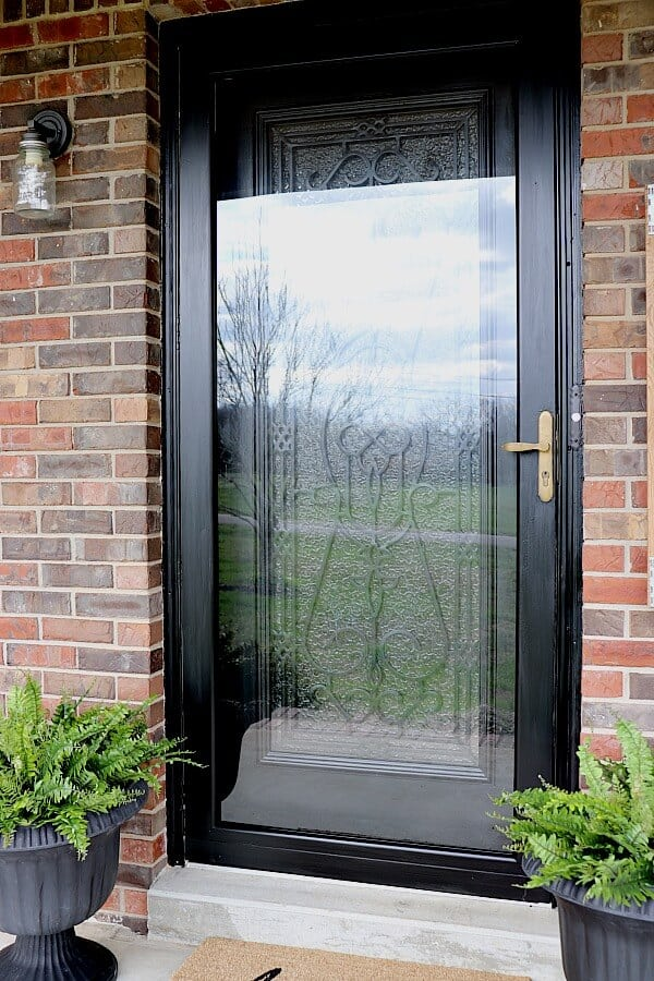 Brightening Our Entryway For Spring With A Diy Glass Door