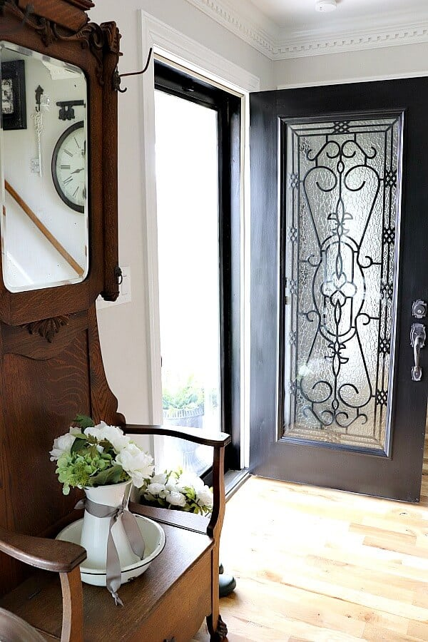Brightening Our Entryway For Spring With A Diy Glass Door Insert
