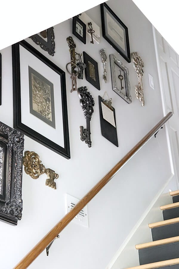 a key themed gallery wall