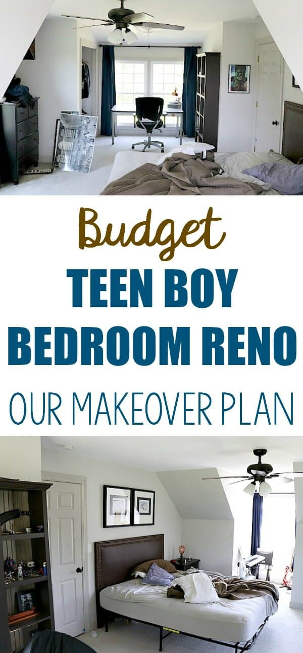 Budget Teen Boy Bedroom Reno   Our Plan To Create A Makeover For Our Son On