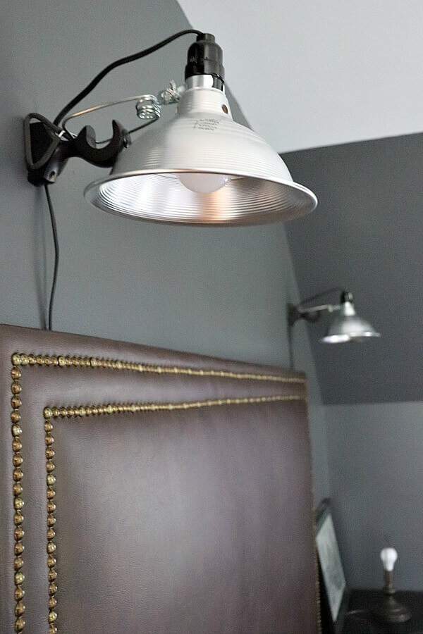 Industrial Decor Elements for a Boys Room - we are in week 4 of this Spring's One Room Challenge. This week, we had fun adding industrial elements that my Teen son loves!