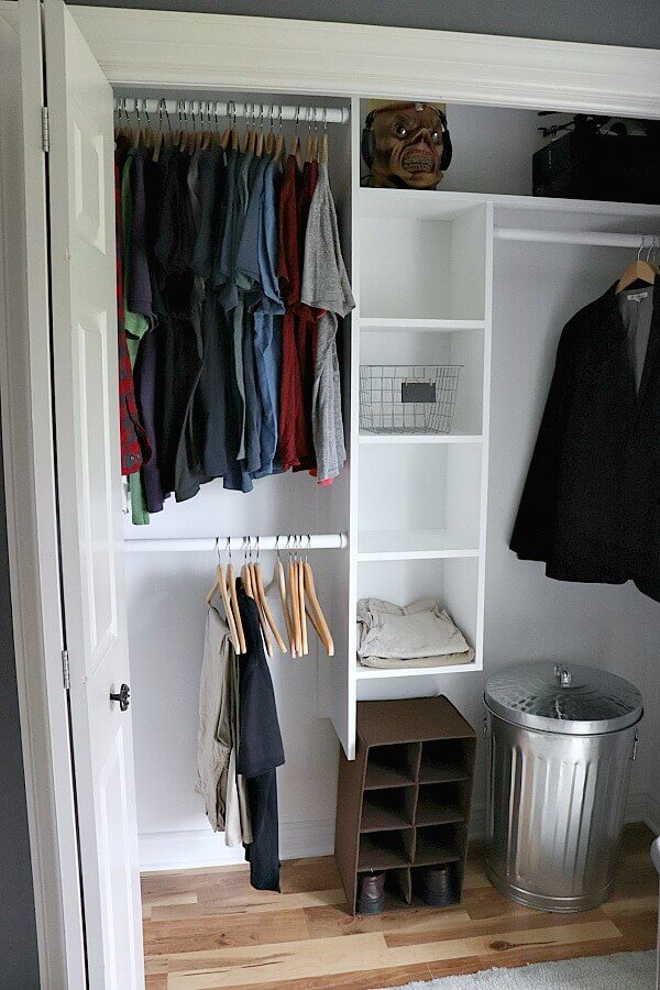 We are transforming our son's room into an Budget Friendly Industrial Teen Room for the One Room Challenge. The week - we are making over a closet for less than $40!