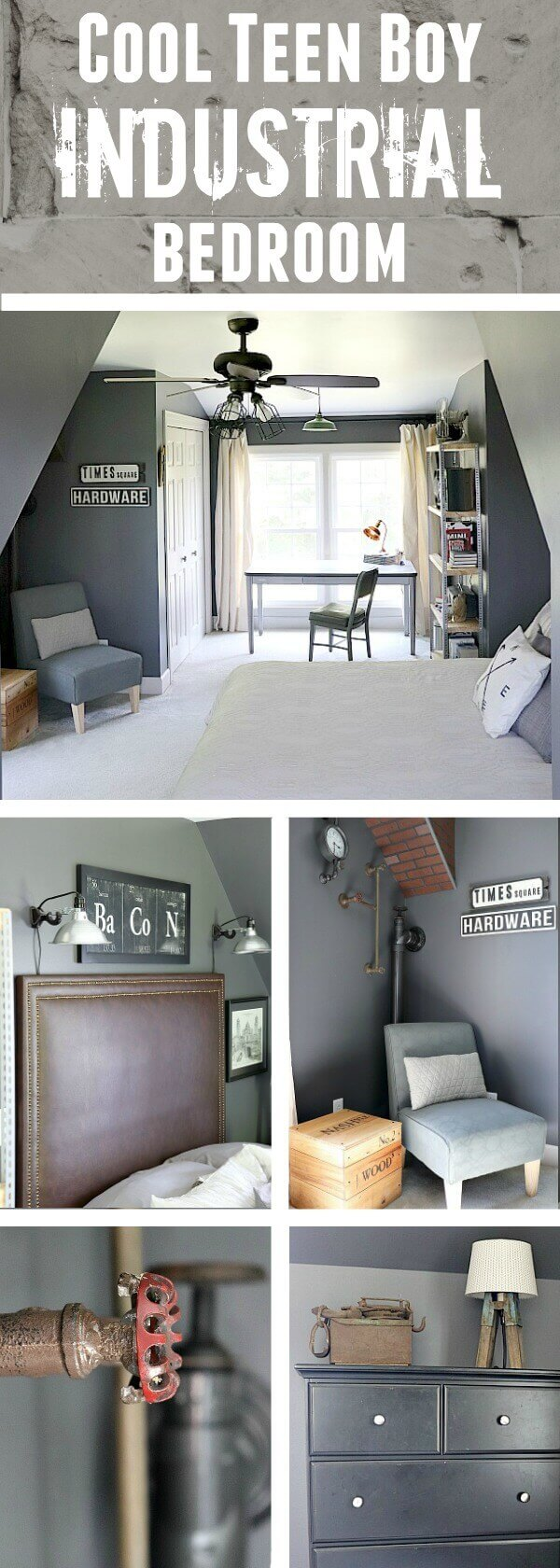 Industrial Teenage Bedroom Makeover On A Budget Orc Reveal Noting Grace