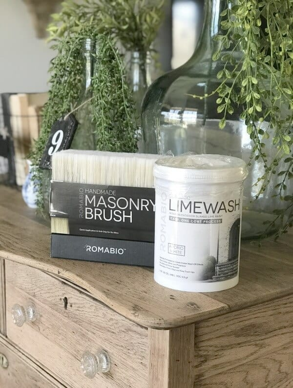 Limewash isn't just for bricks! Try these creative decor ideas!  Why We're Limewashing Our Brick Home with Romabio Paints Classico Limewash