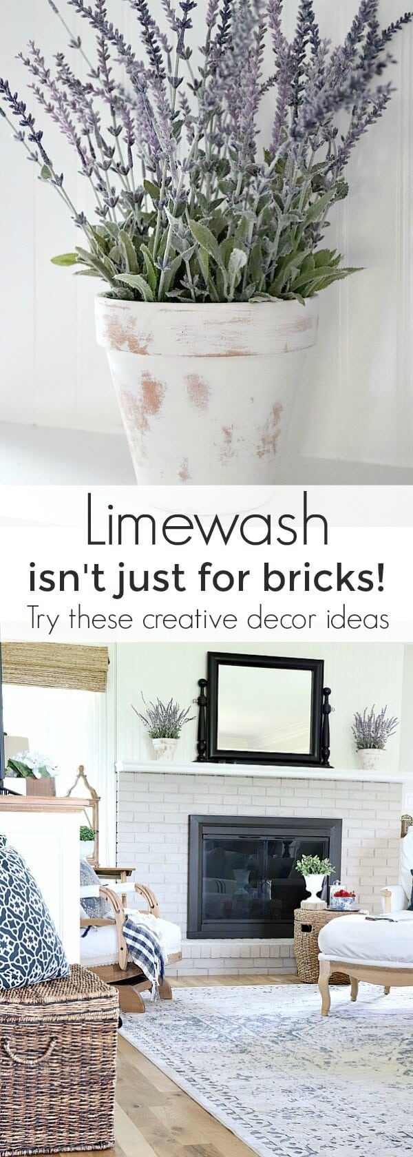 Limewash isn't just for bricks! Try these creative decor ideas!