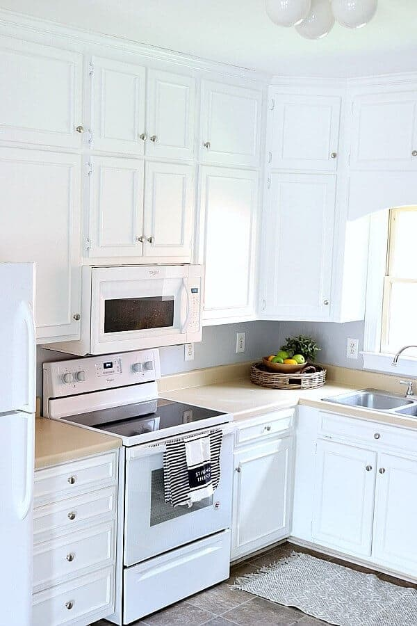 Painting Kitchen Cabinets White Noting Grace