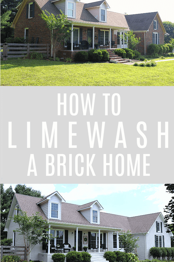 How to Limewash a Brick Home