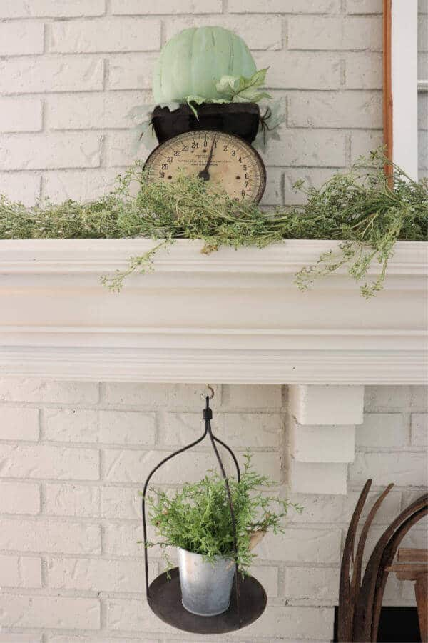 Last year's fall decor was bold and colorful, but this year I chose something different. Here is a muted fall mantel for you to enjoy!
