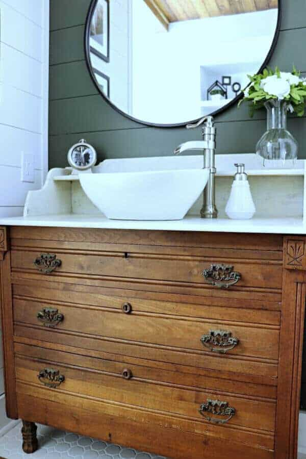 Vintage Washstand Turned Bathroom Vanity Noting Grace
