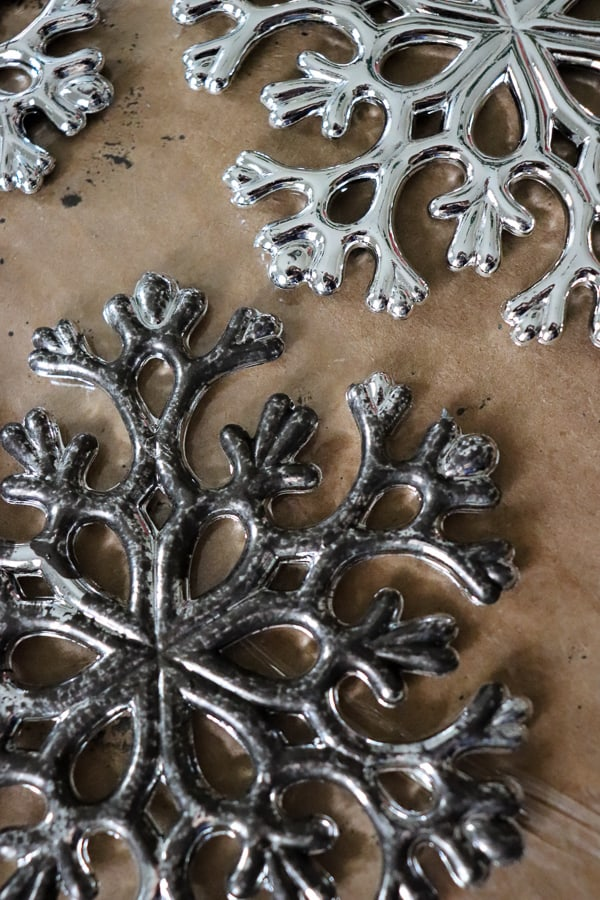Decorating with Tarnished silver and How to Make your own Tarnished Silver Ornaments -