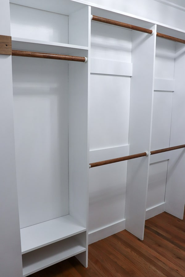 When we renovated our master bathroom, we were left without a closet. Here is how rebuilding our master closet gave us so much more storage.
