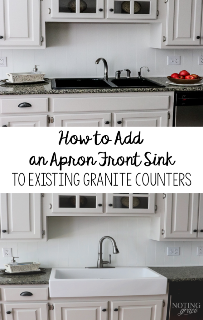 How To Add An A Front Sink Existing Granite Counters