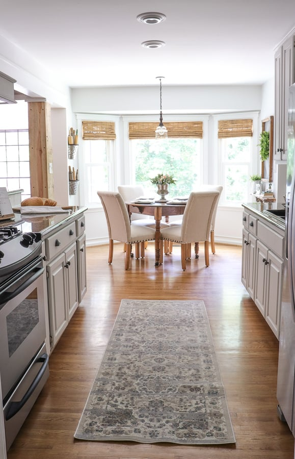 It took just six weeks to take my kitchen from meh to amazing - and I did it all for less than $1500! This timeless farmhouse kitchen remodel was done on a tight budget, working with counters I didn't love, but can now manage with this new look!