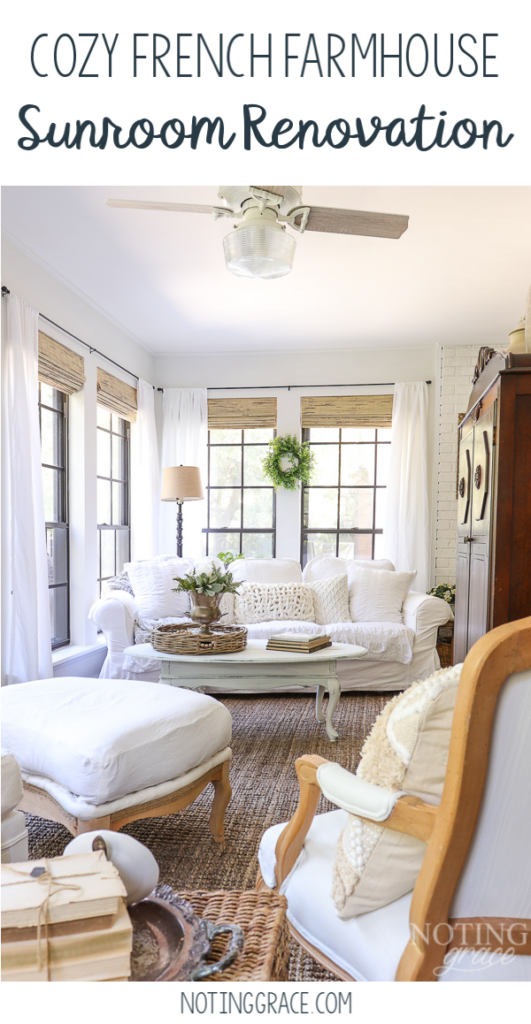 For the past month, I've been working on updating a quiet corner of my home. I can't wait to show you my Cozy French Farmhouse Sunroom Renovation.