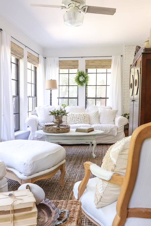 COZY FRENCH FARMHOUSE SUNROOM RENOVATION