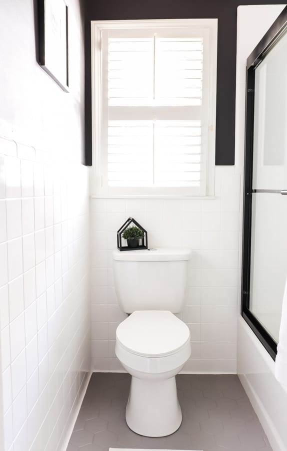 How We Changed Our Bathroom Tile For, Can You Paint Over Bathroom Tile