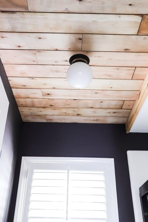 Diy Ceiling Planks From Laminate, Laminate Flooring On Ceiling