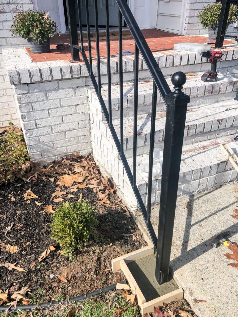 final installation of porch rails