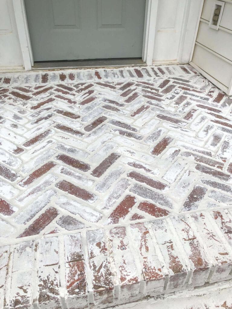 mortar washed brick patio