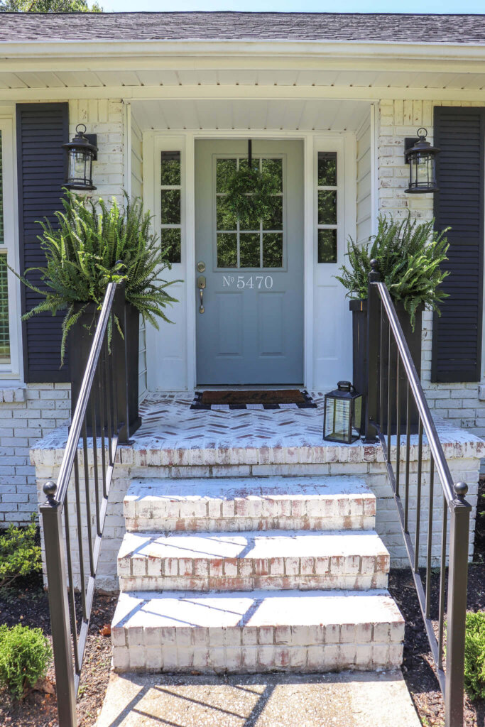 How to install and mortar wash a herringbone brick patio.