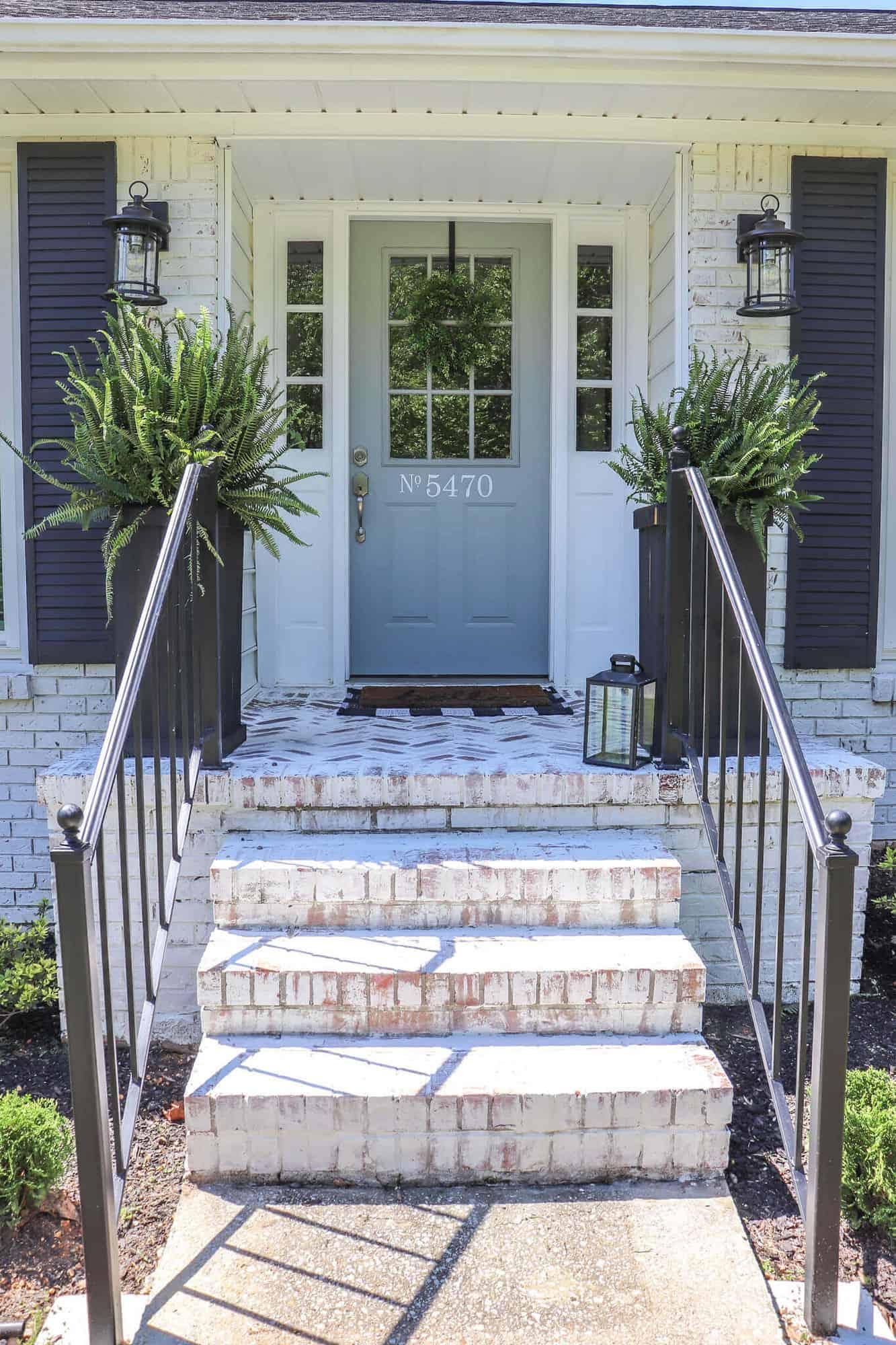 How To Repurpose Exterior Iron Stair Railings Noting Grace