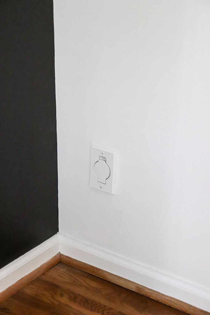 spray painted central vacuum outlet