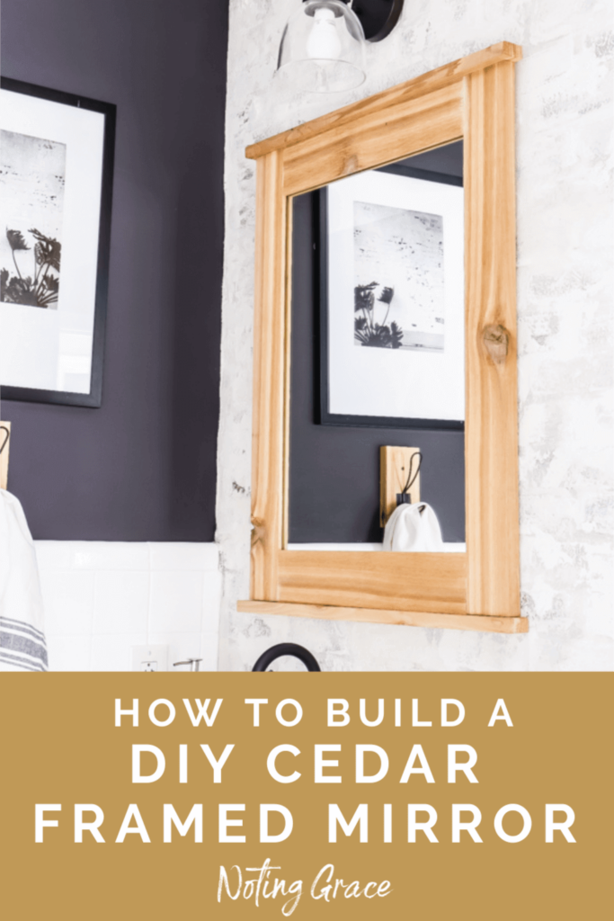 When we made over our boys bathroom last fall, I wanted the perfect mirrors for this space. Here's how we made a DIY Cedar Framed Mirror for each sink!