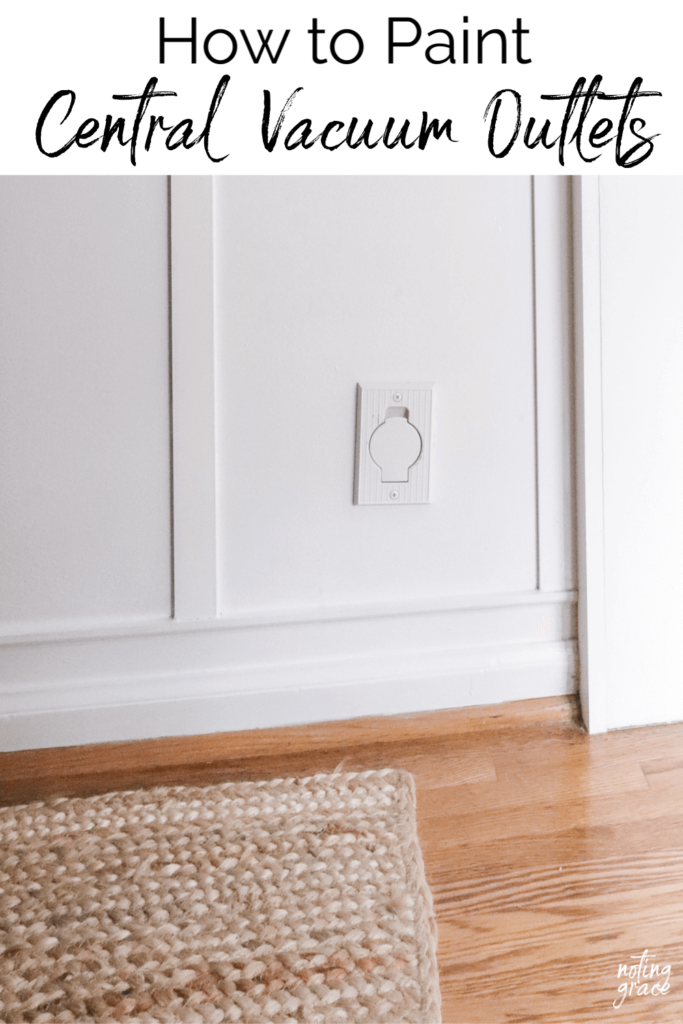 One of my favorite features about our house is our Central Vacuum system. But the outlets were dated and yellowed tan and needed an update. Here's how to paint central vac outlets.