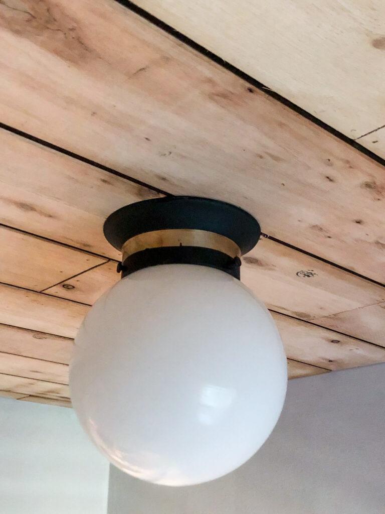 diy flooring on ceiling
