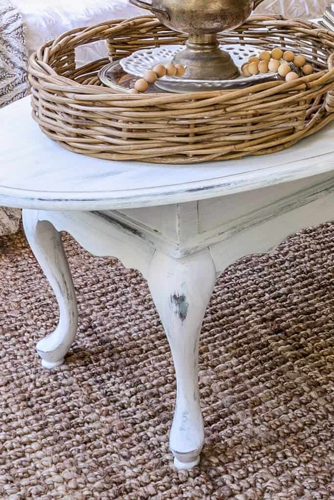 distressed French country coffee table