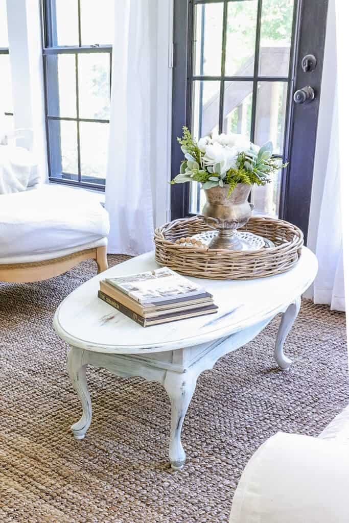 Quick French country coffee table makeover