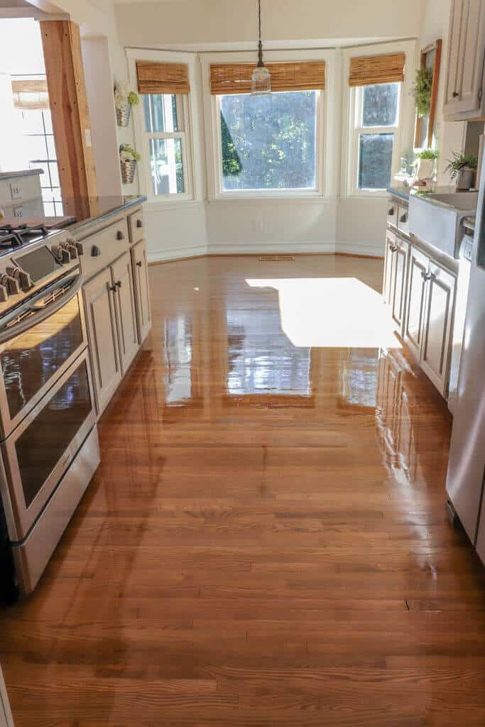 hardwood floor restore drying