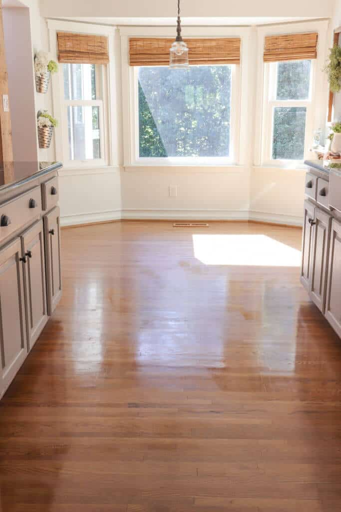 hardwood floors drying