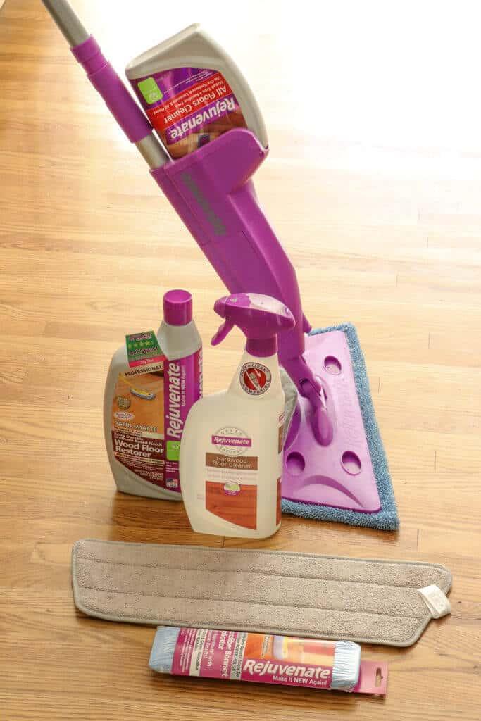 Rejuvenate hardwood floor restoration products