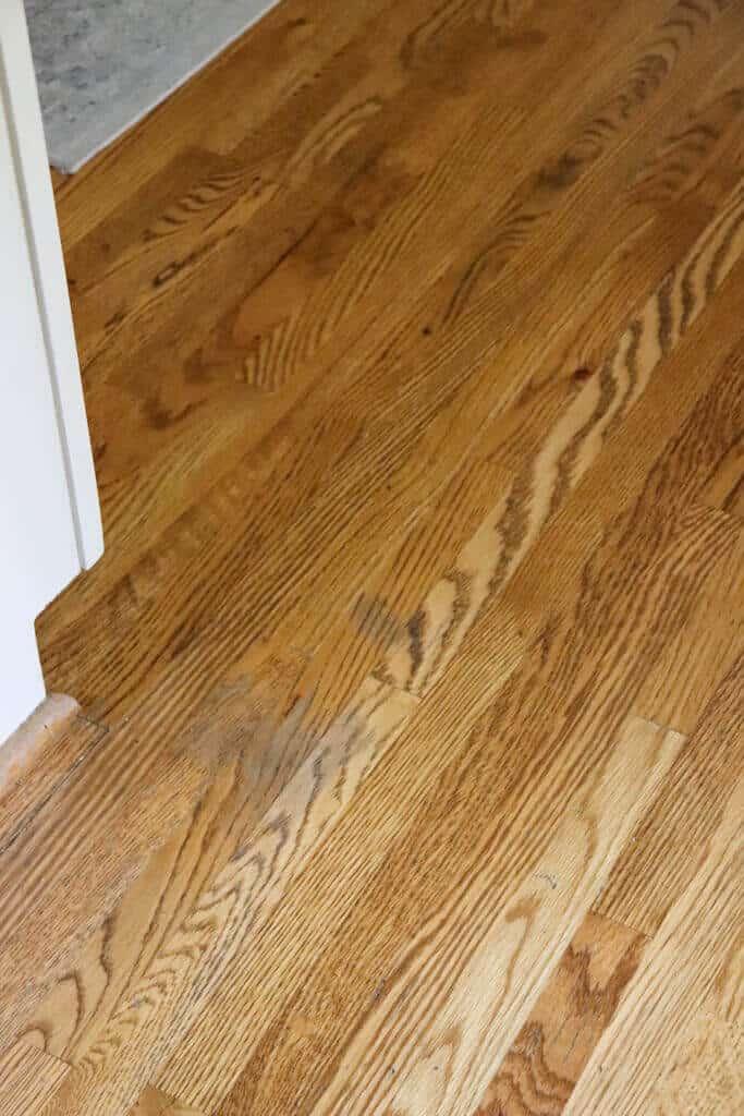 water spots on kitchen hardwood floor