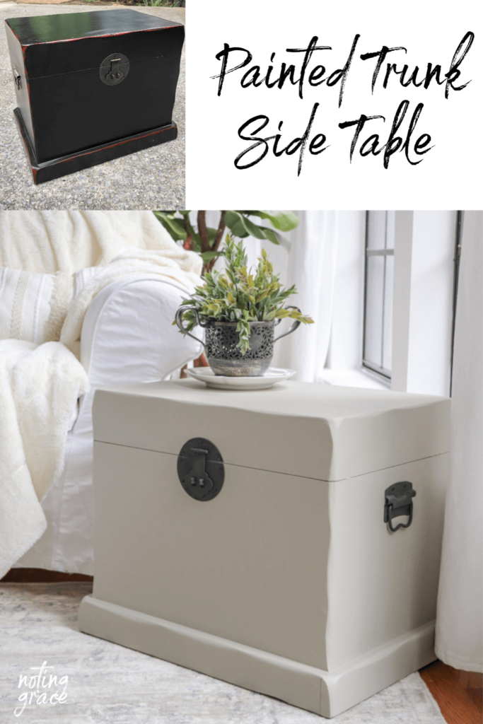 Painted Trunk Side Table
