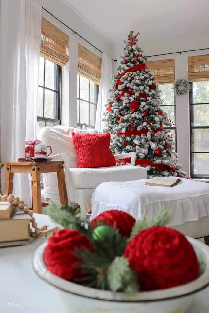Christmas in the Sunroom