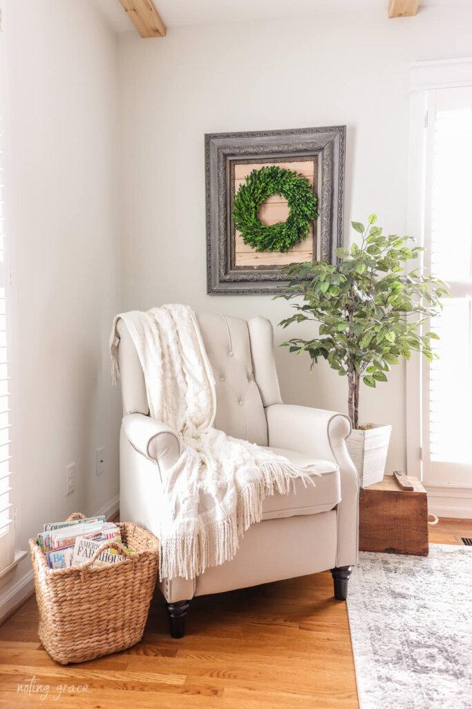 armchair recliner with blanket from Wayfair