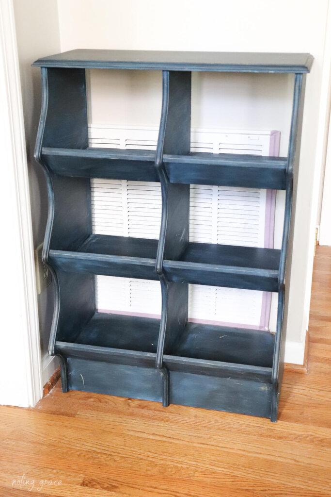 old 6 bin cabinet