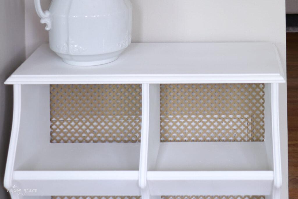 adding aluminum backing to cabinet