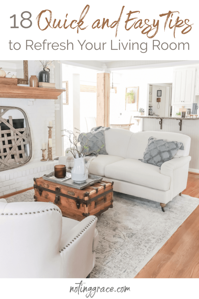 18 Quick and Easy Tips to Refresh Your Living Room