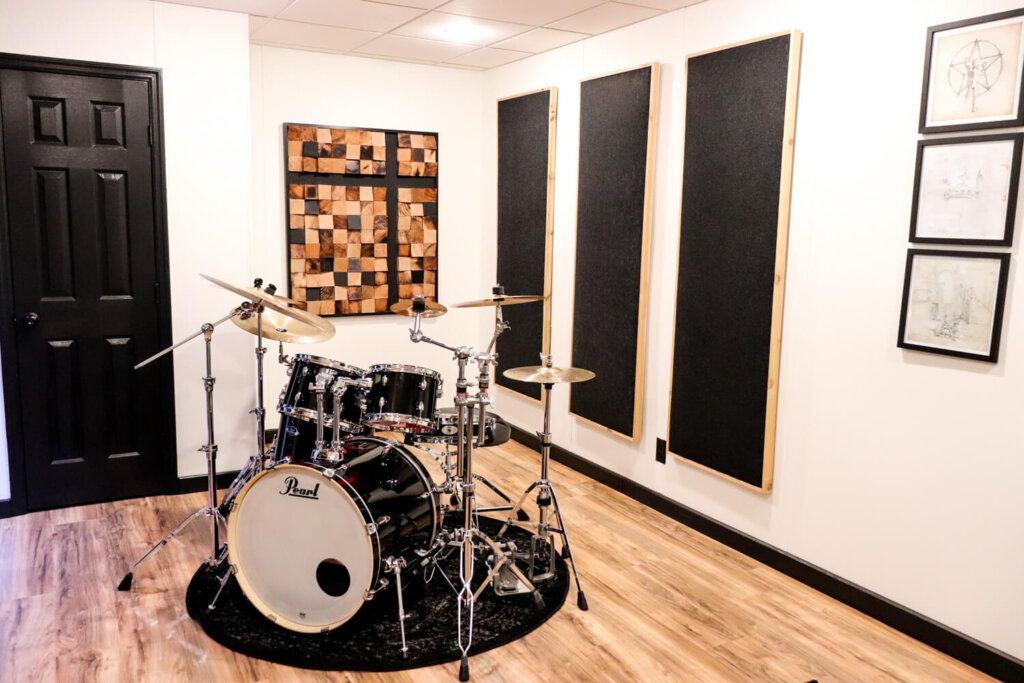 sound panels in drum room