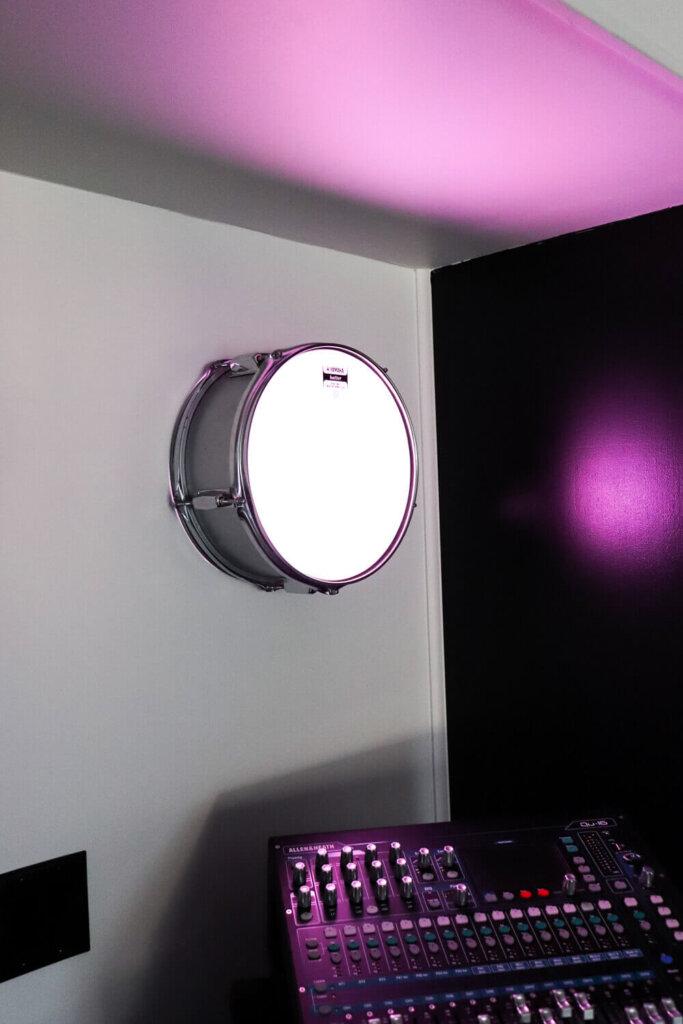 DIY light fixture using drum