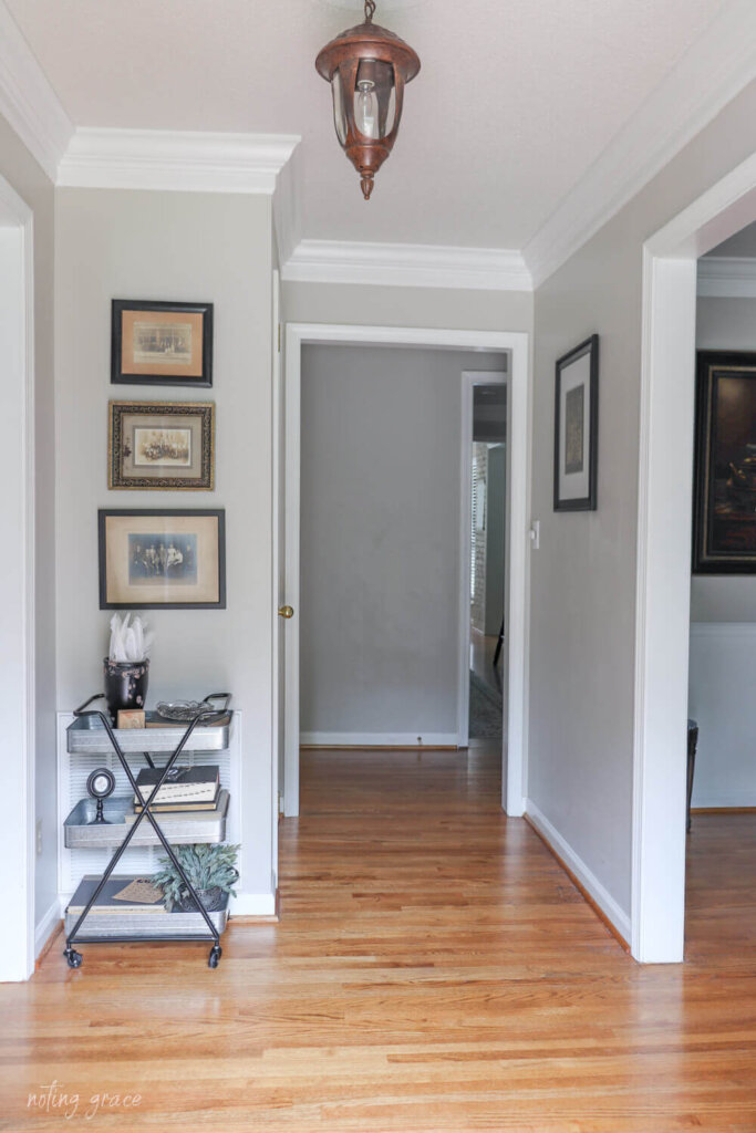 dark and bland entryway before