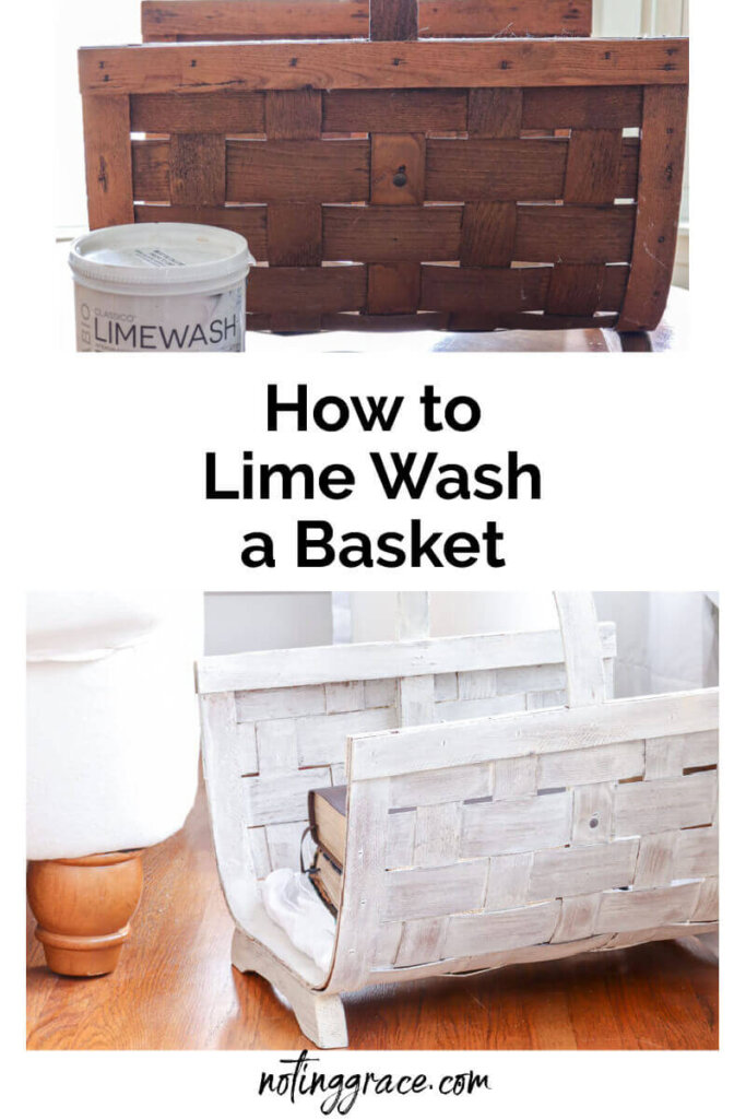 I was about to donate an old basket I had on hand to my local thrift store, but then a creative idea to give it an update came to mind. Here is how to lime wash a basket.