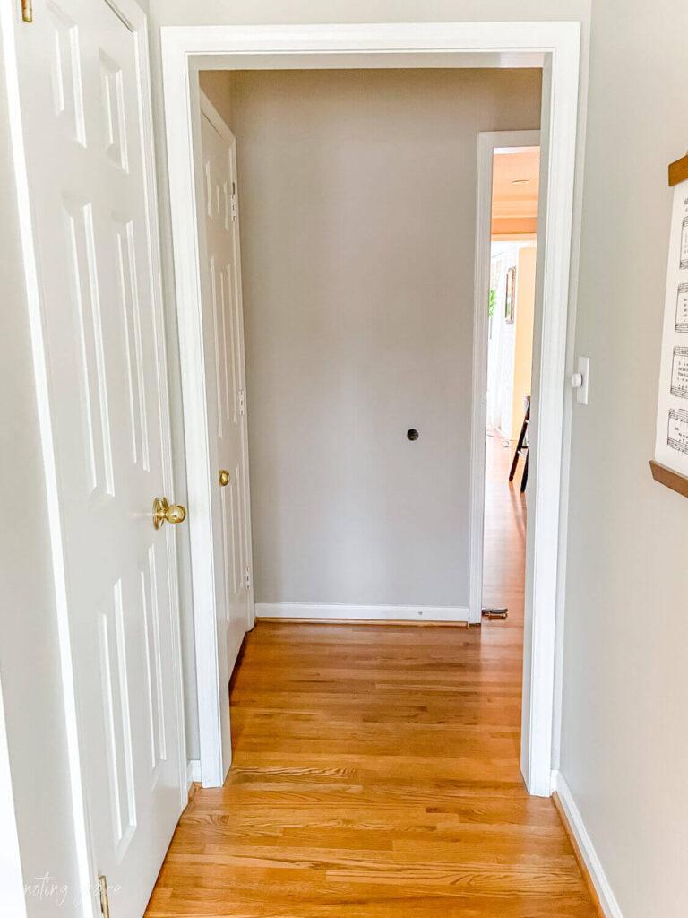 doorway in entryway that blocks the light
