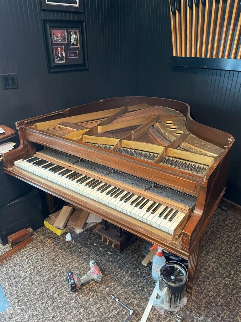 An old piano beyond repair