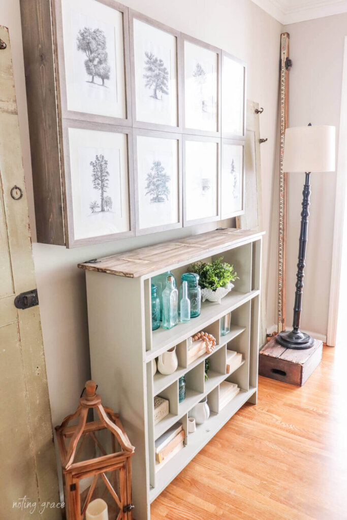 DIY Wall Mounted TV Cabinet with cabinet beneath